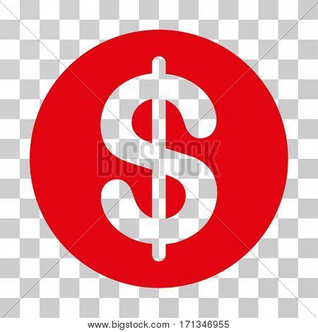 Money icon. Vector illustration style is flat iconic symbol red color transparent background. Designed for web and software interfaces.