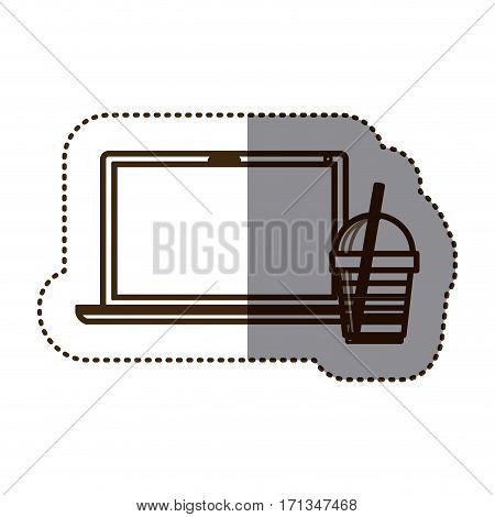 coffee espresso technology communication icon, vector illustration
