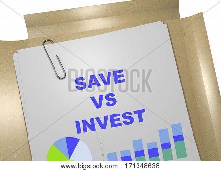 Save Vs Invest Concept