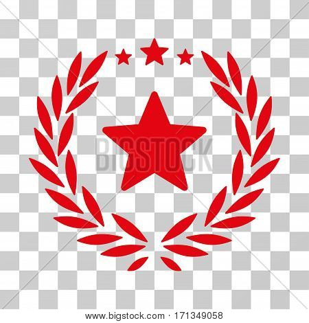 Proud Emblem icon. Vector illustration style is flat iconic symbol red color transparent background. Designed for web and software interfaces.
