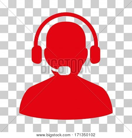 Receptionist icon. Vector illustration style is flat iconic symbol red color transparent background. Designed for web and software interfaces.