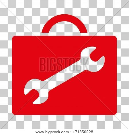 Repair Equipment Case icon. Vector illustration style is flat iconic symbol red color transparent background. Designed for web and software interfaces.