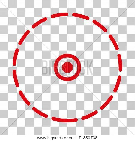 Round Area icon. Vector illustration style is flat iconic symbol red color transparent background. Designed for web and software interfaces.