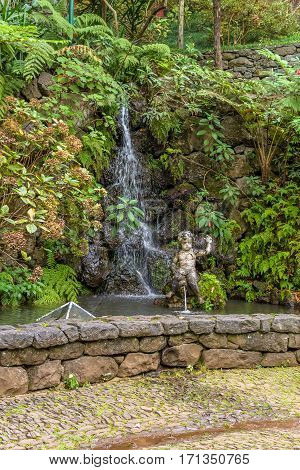 Monte Palace Tropican Garden of Funchal, Madeira island, Portugal.