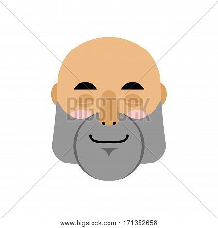 Brutal Man Sleeping Emoji. Men Face Asleep Emotion Isolated