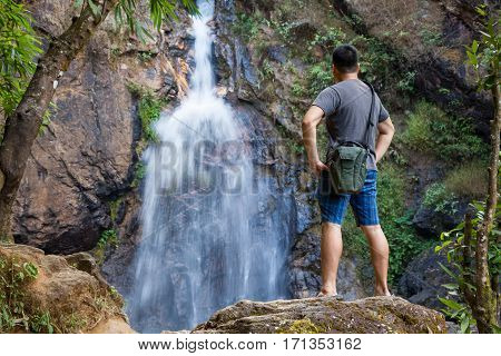 Jok Ka Din Waterfall, Kanchanaburi Of Thailand