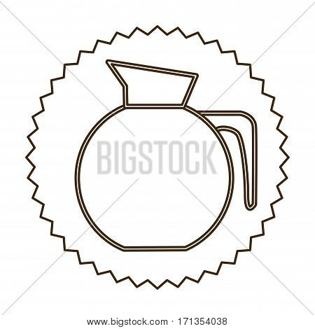 coffee jug icon image design, vector illustration