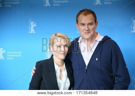 Gillian Anderson, Hugh Bonneville attend the 'Viceroy's House' photo call during the 67th Berlinale International Film Festival Berlin at Grand Hyatt Hotel on February 12, 2017 in Berlin, Germany.