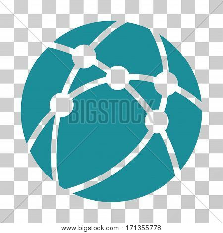 Browser icon. Vector illustration style is flat iconic symbol soft blue color transparent background. Designed for web and software interfaces.