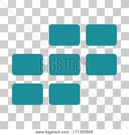 Calendar Grid icon. Vector illustration style is flat iconic symbol soft blue color transparent background. Designed for web and software interfaces.