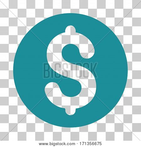 Coin icon. Vector illustration style is flat iconic symbol soft blue color transparent background. Designed for web and software interfaces.