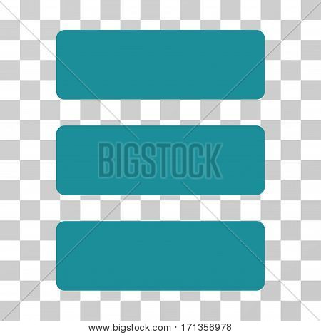 Database icon. Vector illustration style is flat iconic symbol soft blue color transparent background. Designed for web and software interfaces.