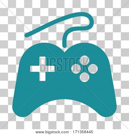 Gamepad icon. Vector illustration style is flat iconic symbol soft blue color transparent background. Designed for web and software interfaces.