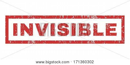 Invisible text rubber seal stamp watermark. Caption inside rectangular shape with grunge design and dirty texture. Horizontal vector red ink sticker on a white background.