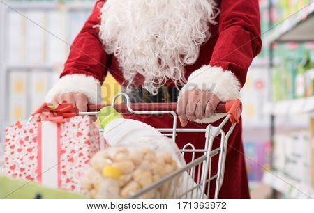 Santa Doing Grocery Shopping