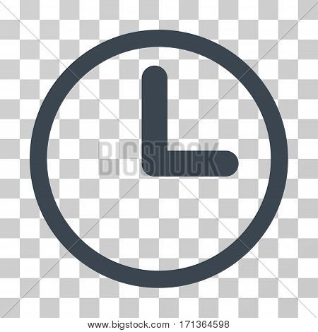 Clock icon. Vector illustration style is flat iconic symbol smooth blue color transparent background. Designed for web and software interfaces.
