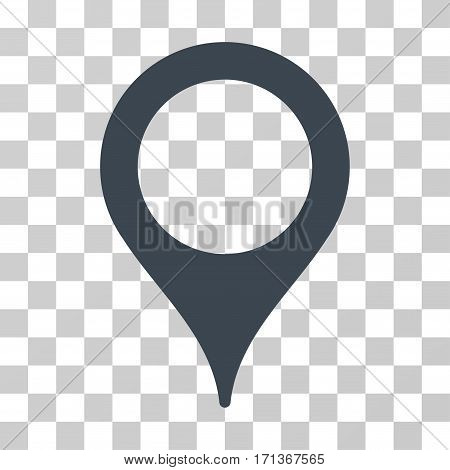 Map Pointer icon. Vector illustration style is flat iconic symbol smooth blue color transparent background. Designed for web and software interfaces.