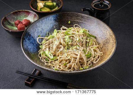 Soba Noodles with Tsukemono