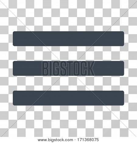 Menu icon. Vector illustration style is flat iconic symbol smooth blue color transparent background. Designed for web and software interfaces.