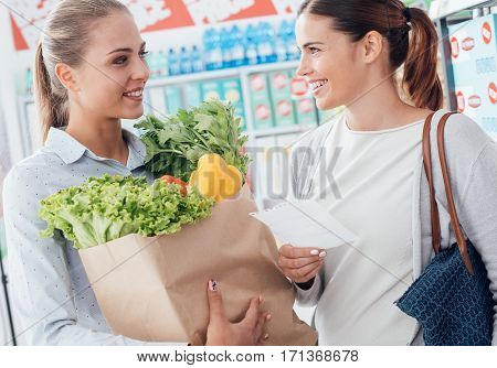 Women Shopping Together At The Supermarket