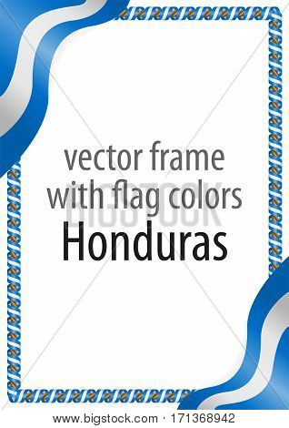 Frame and border of ribbon with the colors of the Honduras flag