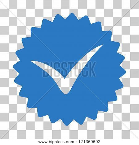 Quality icon. Vector illustration style is flat iconic symbol smooth blue color transparent background. Designed for web and software interfaces.