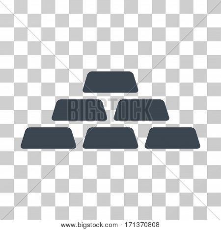 Treasure Bricks icon. Vector illustration style is flat iconic symbol smooth blue color transparent background. Designed for web and software interfaces.