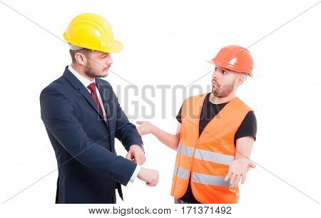 Male Architect Pointing His Wrist
