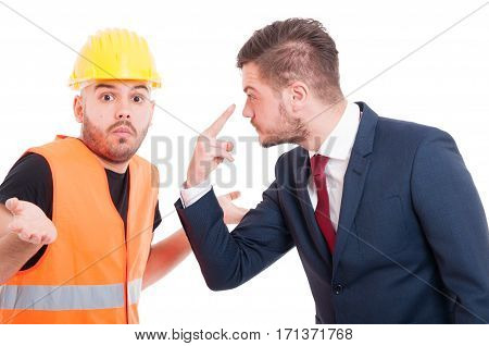 Businessman Doing Look Into My Eyes Gesture