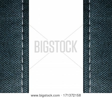 Jeans frame isolated on white background and space for text