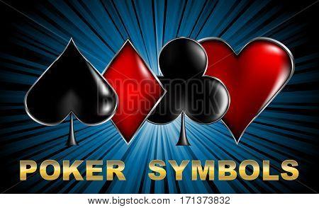 Casino poker cards symbols