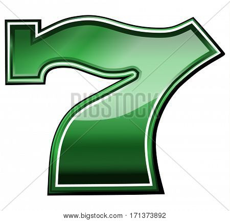 lucky seven slot machine symbol