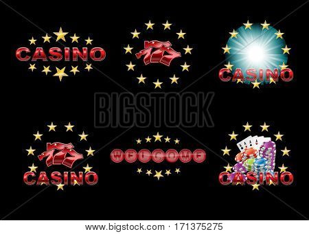 Casino icons or logos