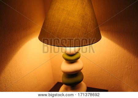 included a floor lamp in the bedroom.