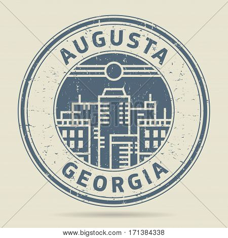 Grunge rubber stamp or label with text Augusta Georgia written inside vector illustration