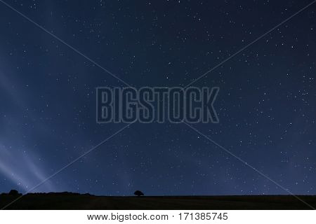 Night Background. Night Starry Sky. Night Sky With Stars