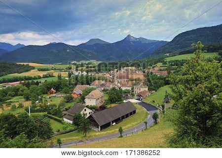 France. Alpine landscape: little village in the mountains