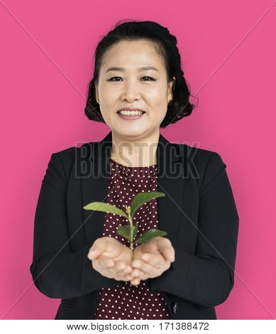 Asian Business Woman Seedling