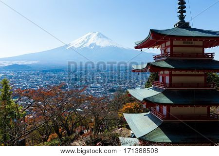 Mount Fuji and Chureito Pagoda