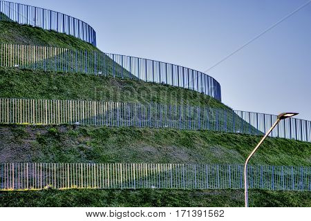 Milan (Lombardy Italy): hill with spiral path in the new Portello park