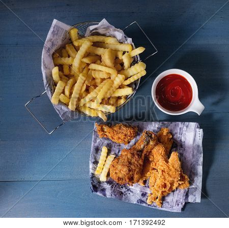 Chicken Fries With Potatoes
