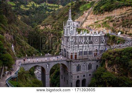 Las Lajas Sanctuary in Ipiales, Southern Colombia