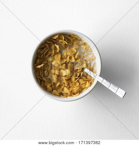 Cereal cornflake milk health breakfast