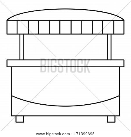 Market stand kiosk stall icon. Outline illustration of market stand kiosk stall vector icon for web