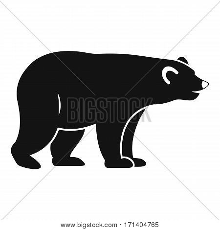 Wild bear icon. Simple illustration of wild bear vector icon for web