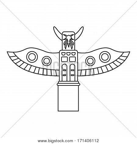Totem pole icon. Outline illustration of totem pole vector icon for web