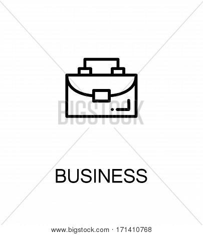 Business icon. Single high quality outline symbol for web design or mobile app. Thin line sign for design logo. Black outline pictogram on white background