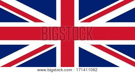 Colored Flag Of Great Britain