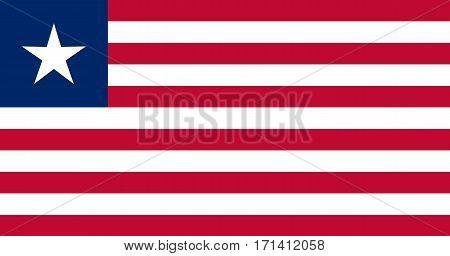 Colored Flag Of Liberia