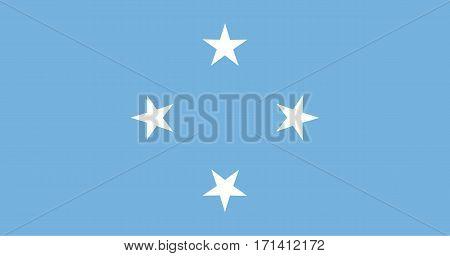 Colored Flag Of Micronesia